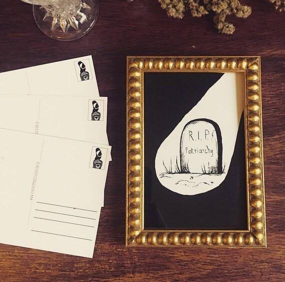 "Postcard ""R.I.P. Patriarchy"""
