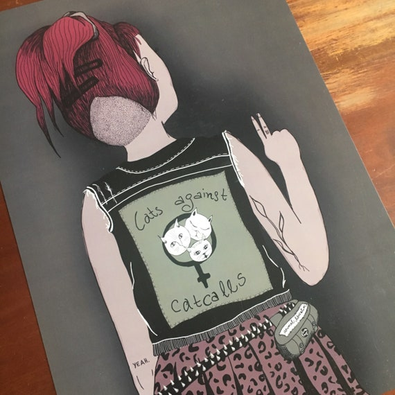 "Feminist art print ""against catcalls"""