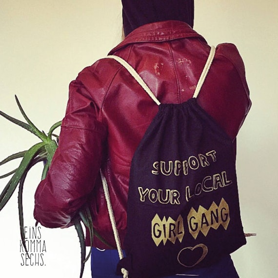 "Turn bag ""Support your local girl gang"""