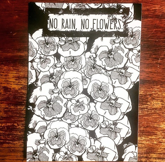 "Art print A5 ""No rain, no flowers"""