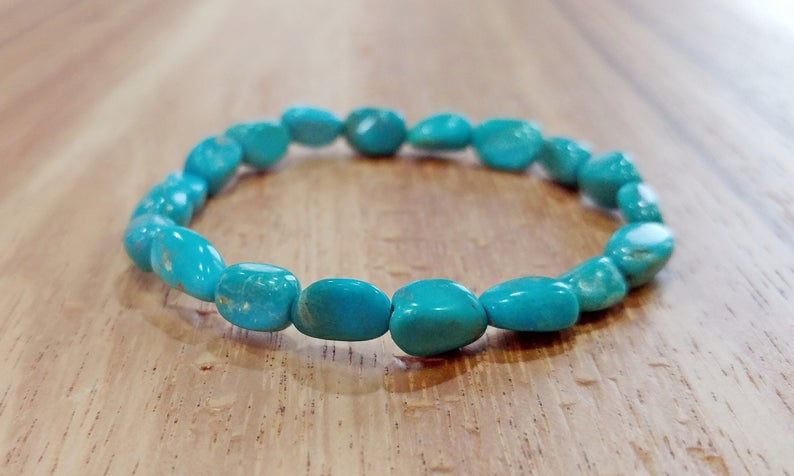 Turquoise Bracelet Green Sonora Turquoise Turquoise Jewelry Chakra Jewelr Turquoise Bracelet Metaphysical Jewelry Natural Turquoise