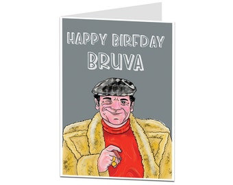 Brother Birthday Card Older Younger Funny Greetings Happy