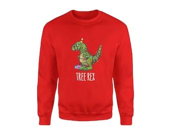 christmas jumper unisex xmas sweater novelty holiday sweater tree rex dinosaur christmas jumper funny christmas jumper for men women