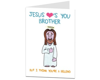 Brother Birthday Card. Older Younger Brother Birthday Card. Funny Brother Birthday Greetings Card. Perfect For 30th 40th 50th