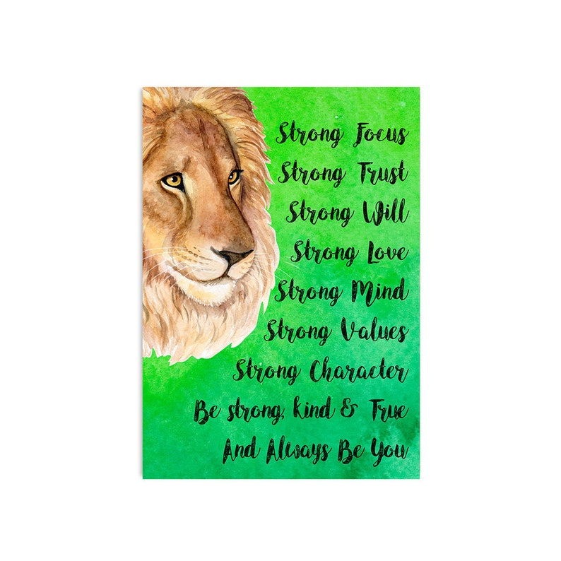 Pack Of 4 A3 Poster's  Animal Poster  Motivational Poster  Inspirational  Poster  Kids Poster  Nursery Poster  School Poster