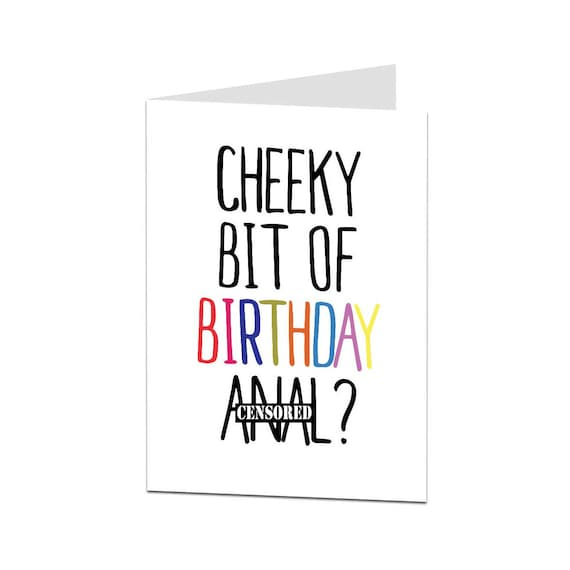 Birthday Card Girlfriend GF Wife Rude