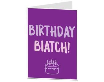 Best Friend Card. Happy Birthday Card Best Friend BFF. Birthday Card For Her. Birthday Card For Women. Bitch Birthday Card