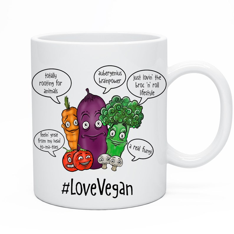 Vegan Tea Coffee Mug Gift Christmas Xmas