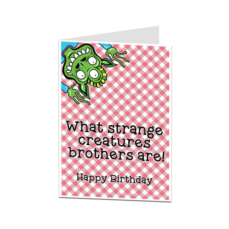 Brother Birthday Card  Older Younger Brother Birthday Card  Funny Brother  Birthday Greetings Card  Perfect For All Ages