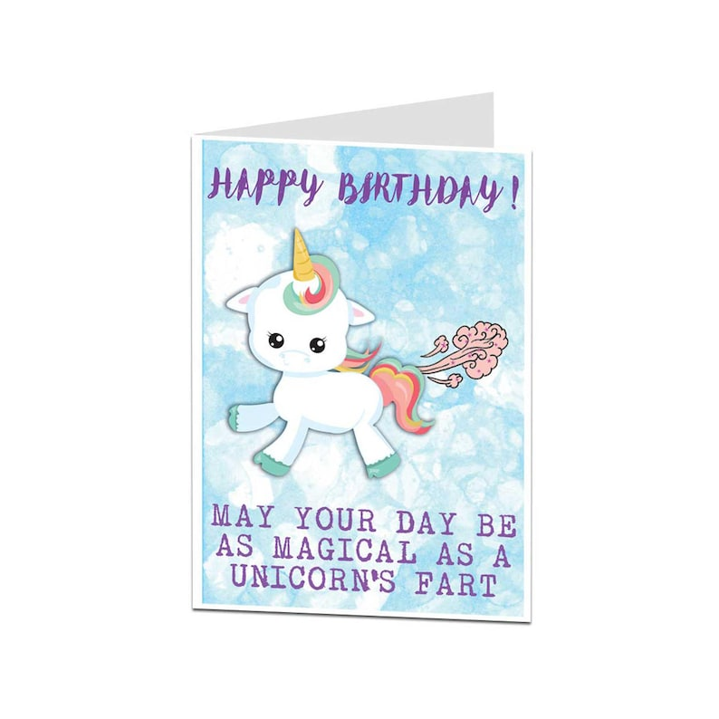 Unicorn Card Birthday Funny