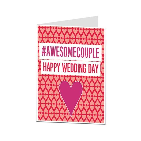 Hochzeit Karte Lustige Hochzeit Card Herzlichen Glückwunsch Einfach Verheiratet An Ihrem Hochzeitstag Herzlichen Glückwunsch Braut Bräutigam Card