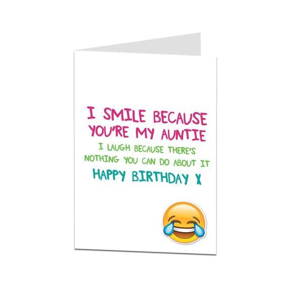 Tante Card Geburtstag Karte Tante Glucklich Geburtstag Tante Etsy