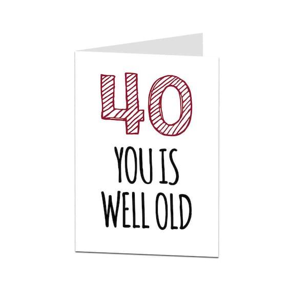 40th Birthday Card 40 Husband Wife Friend