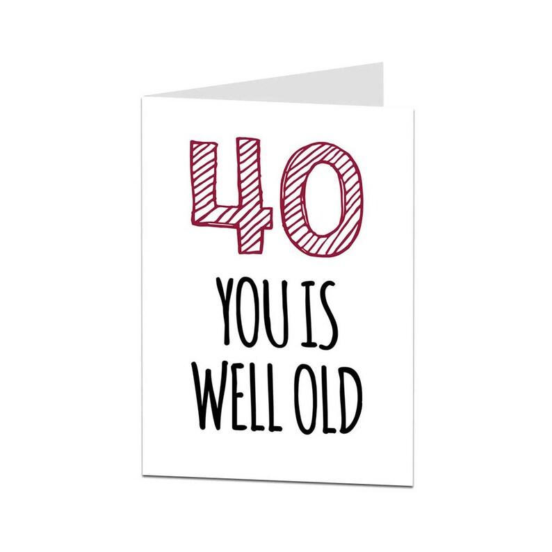 40e Verjaardag Card 40 Card 40e Verjaardag Man Vrouw Vriend Etsy
