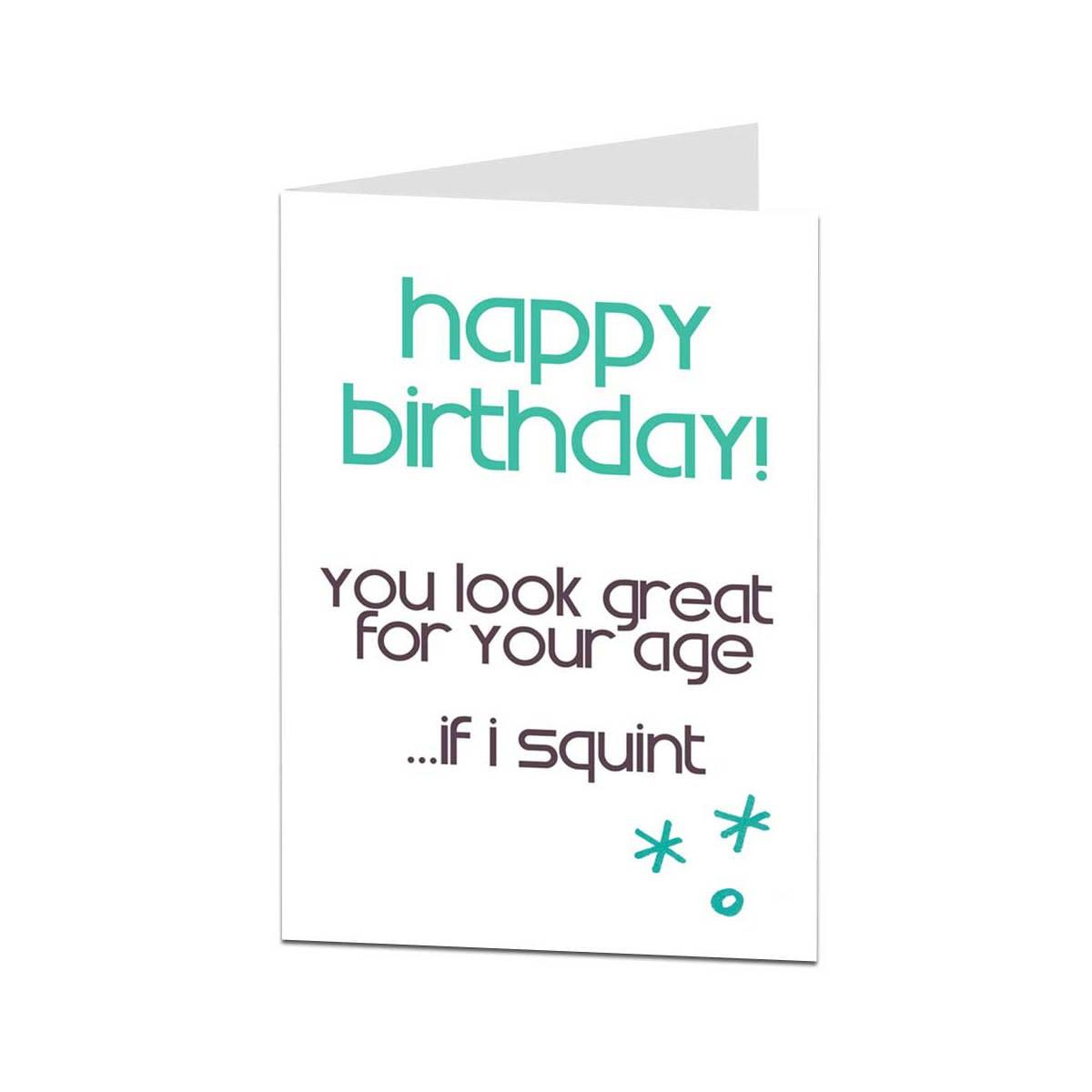 drôle de Carte D/'anniversaire Pour Papa thème vieillesse. Comique