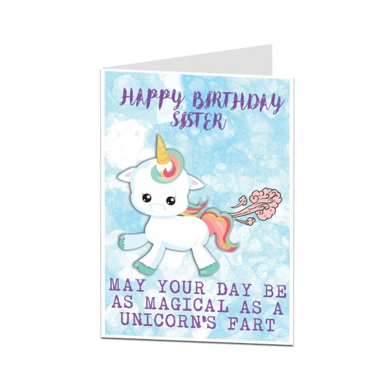 Sister Birthday Card Funny Older