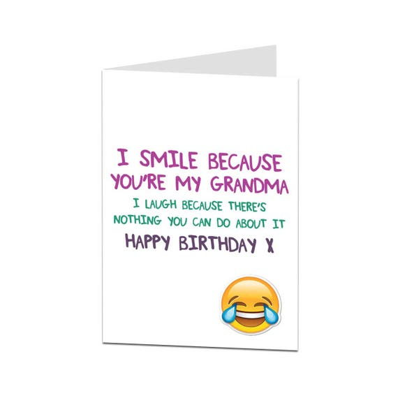 Grandma Card Birthday Card Grandma Happy Birthday Grandma Etsy