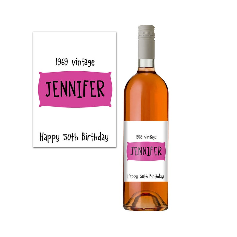 Personalised Wine Label 50th Birthday Gift Idea Bottle