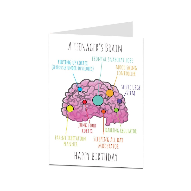 Funny Birthday Card For A Teenager Son Daughter 14th 15th 16th