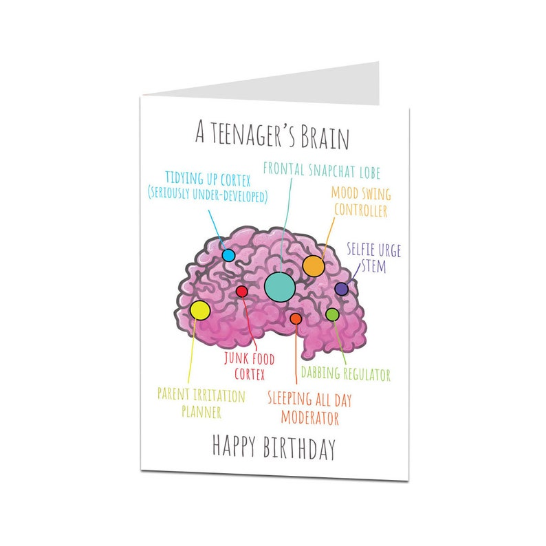 Funny Birthday Card For A Teenager Son