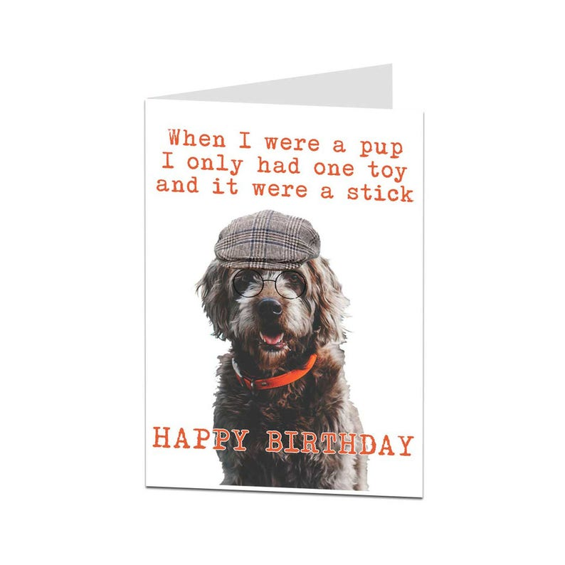 Funny Birthday Card Dog From
