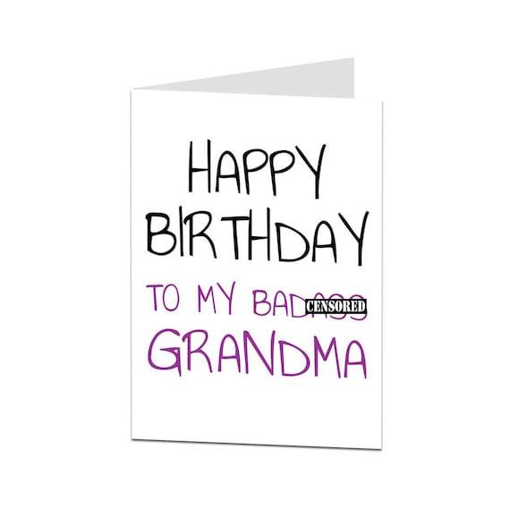 Oma Card Geburtstag Karte Oma Glucklich Geburtstag Oma Oma Etsy