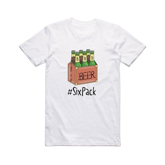 brand new 0a07d 48f3d T-shirt divertenti uomo. Six Pack Tee. Cool t-shirt per gli uomini. T-shirt  eccentrico. T-shirt insolito. Cool t-shirt. Novità t-shirt. T-shirt per ...