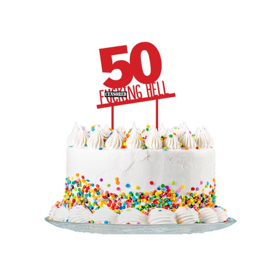 Outstanding 50Th Birthday Cake Topper Cut From 3Mm Red Acrylic For Men Etsy Personalised Birthday Cards Paralily Jamesorg