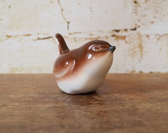 Crown Petite Porcelain Bird