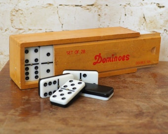 Vintage Dominoes Set by Double Six