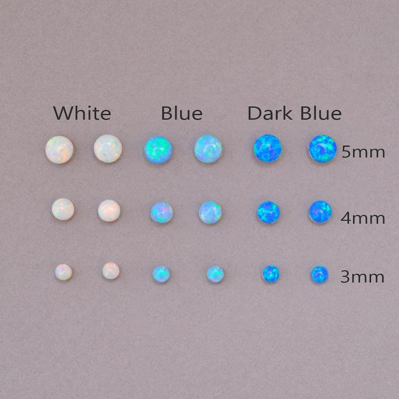 Opal Earrings Opal Stud Earrings Blue Opal Stud Earrings image 1