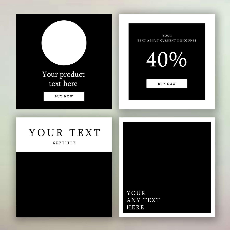 Pack de plantilla de Instagram: Diseño minimalista 4 | Etsy