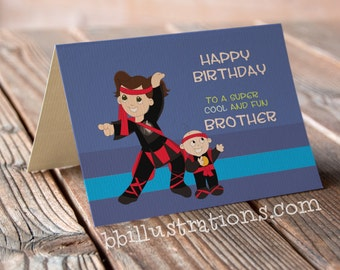 Little Brother Gift For Ideas Sibling Birthday Card Him Blank