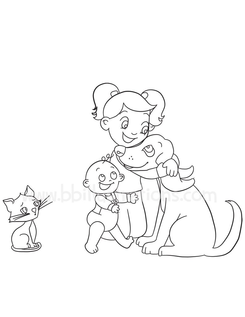 - Animal Coloring Pages Cat Coloring Book Cute Coloring Pages Etsy