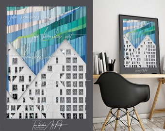 Abstract architecture, Architecture print, Colorful architecture, Houses, Architectural design