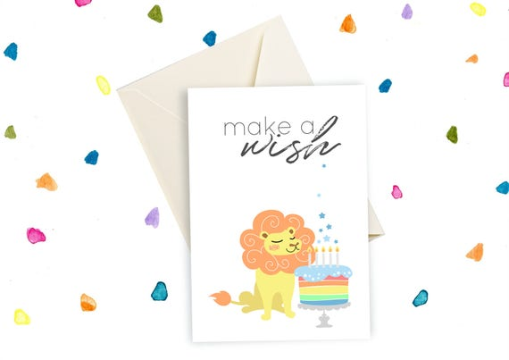 Printable Birthday Card For Him Lion King