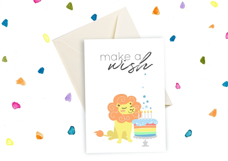 Printable Birthday Card For Him Lion King
