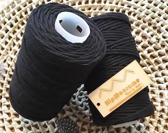 Black Braided 3mm Rope