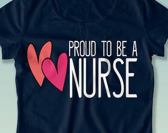 Proud To Be a Nurse Cute Enough To Stop Your Heart RN Gift for Nurse Shirt Doctor Funny Nursing T-Shirt Love Nursing Tee Student Nurse NT39