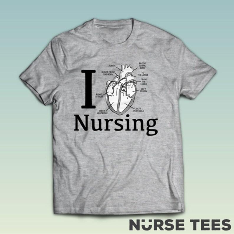 8c3d3292e I Love Nursing Shirt Nurse Shirts Nursing School T Shirt | Etsy