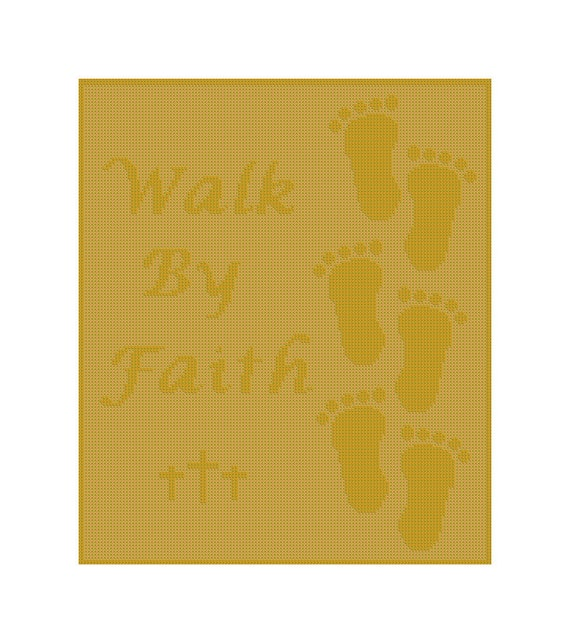 Walk By Faith PDF Pattern for Blanket, Throw, Crochet Chart Blanket,  Christian Theme Afghan Instruction, worsted weight yarn, red heart yarn