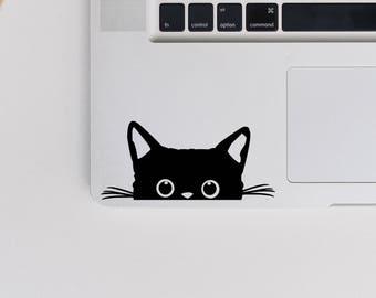 2x Peeking Cat Vinyl Decal - original from 2018 Cat Sticker - Kitten Decal - Laptop Vinyl Transfer - Car Sticker - Cat Decals - Cat Lover