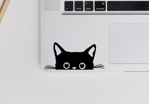 2 X Peeking Cat Vinyl Decal Cat Sticker Kitten Decal Etsy