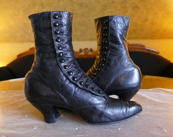 bc926fccaabe 1906 High Button Boots, antique boots, antique shoes, Edardian Boots,  shoes, antike Stiefel