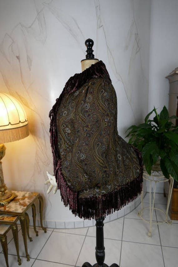 1880 Paisley Silk Dolman, antique dolman, antique