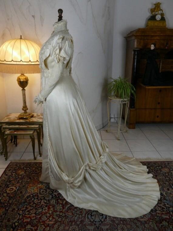 1908 Wedding Dress, antique dress, antique gown, E