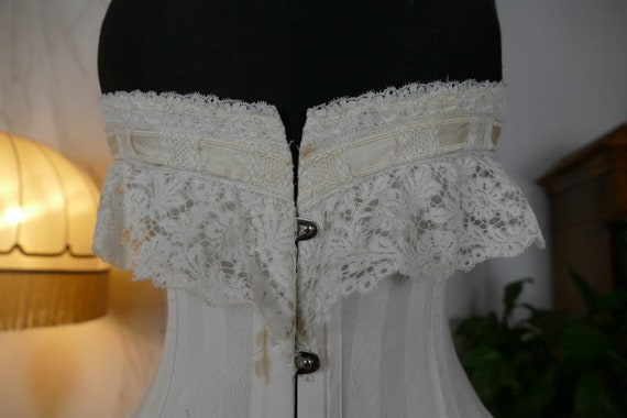 1910 AU ROYAL Wedding Corset, Spain, antique Corse