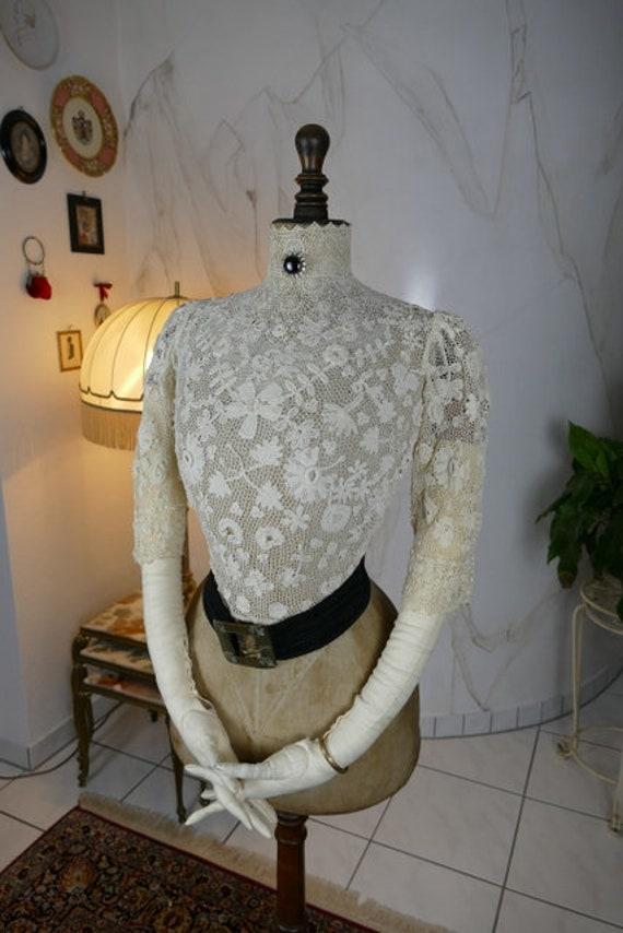 1904 Antique Blouse, Edwardian Blouse, Irish Croch