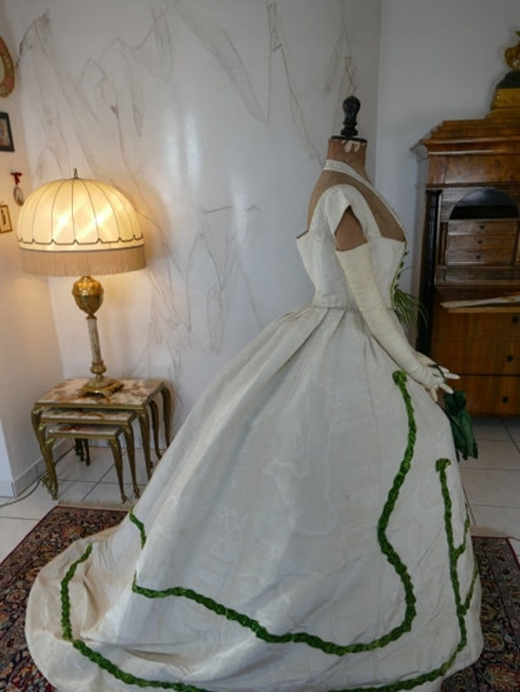 1865 Ball Gown with Evening Bag, France, Victorian