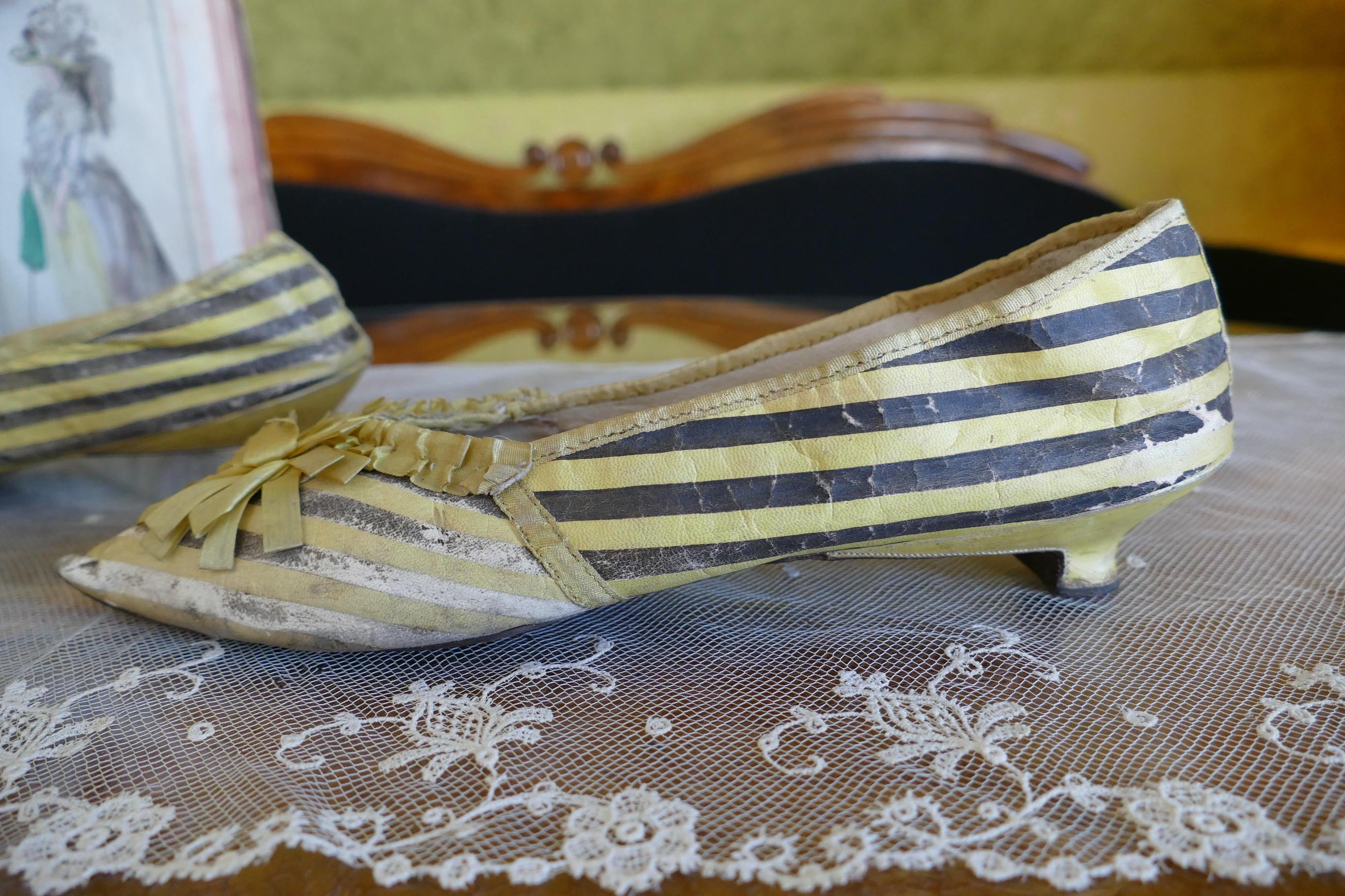 1790 Late antique Rococo Shoes, antique shoes, antique Late pumps, antike Schuhe, Rokoko, antique pumps 84a4db